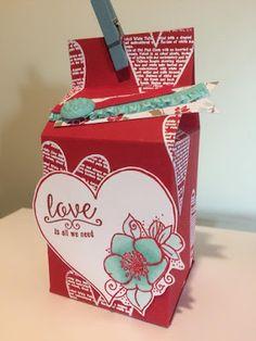 My Creative Side: Milk Carton Valentine