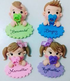 ideas baby shower souvenirs ideas cupcake toppers for 2019 Polymer Clay Dolls, Polymer Clay Crafts, Fondant Decorations, Baby Shower Decorations, Fondant Toppers, Cupcake Toppers, Baby Shower Souvenirs, Baby Shawer, Fondant Baby