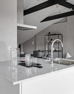Light flooded rooftop apartment - via Coco Lapine Design blog
