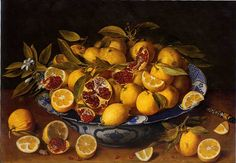 Jacob van Hulsdonck Still Life with Lemons, Oranges and a Pomegranate