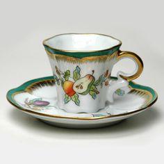 Limoges French Porcelain DEMITASSE CUP AND SAUCER Lovely Little Set 32