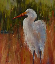 Painting My World: Great Egret Painting Step by Step Demo