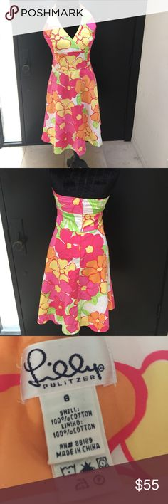 Lilly Pulitzer Sun Dress Beautiful Lilly Sundress. Size 8. Fits more like a 6. EUC Lilly Pulitzer Dresses Backless