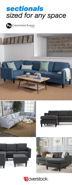 From stately sectionals for large family rooms to chic options perfect for apartment living, Christopher Knight Home has a full range of sofas and sectionals to fit any room.