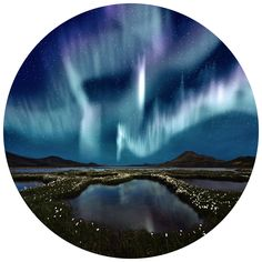 Aurora Borealis | Circle Wall Decals | WallsNeedLove