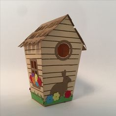 Stampin Up - Home Sweet Home - Easter House back Box Houses, Paper Houses, House Template, Window Cards, Bird Boxes, Glitter Houses, Up House, Crafts To Make And Sell, Stamping Up Cards