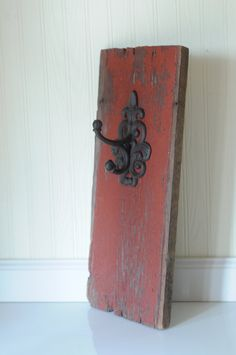 Antique Reclaimed Barn Wood Antique Style Hook by PageScrappers, $32.99