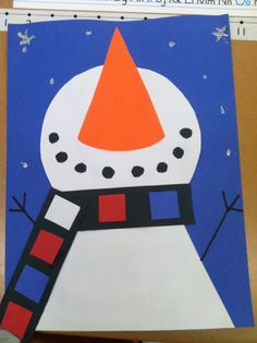 Snowman craft, I so miss doing art with the children