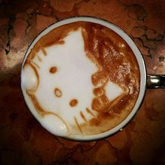 Hello Kitty latte art by Kazuki Yamamoto