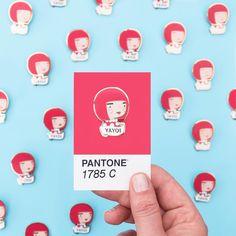 Yayoi kusama Pantone - Artist Pin - by sketchinc
