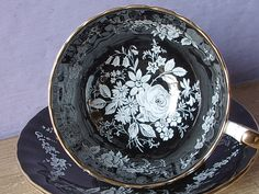Vintage English bone china tea cup and saucer by ShoponSherman