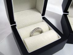 Full Channel-Set Round #Diamond Ring in a Platinum Band   OrlaJames.com