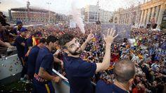 La rúa de los campeones de Liga   FC Barcelona