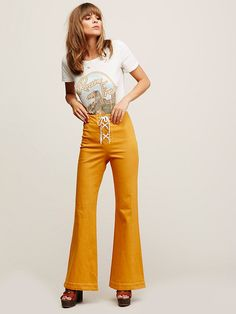 Free People Foxy Lace Up Pant, ARS$1746.16