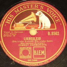 nice acapella early german boygroup :-) 2nd Raritys Auction 2016 !! #78rpm #shellacrecords COMEDIAN HARMONISTS  Liebesleid & Humoreske  1933 HMV 78rpm 10