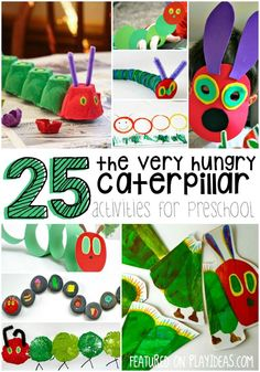25 Very Hungry Caterpillar Crafts for Preschoolers. Hands on book activities and art projects for kids inspired by Eric Carle's story.