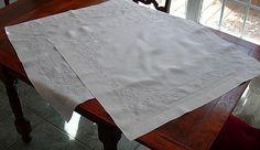 Em's Heart Antique Linens -Antique Linen Embroidered Layover Shams