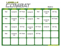 Les Mills Combat Month workout for core training. Perfect for any fitness level. Les Mills Combat, Les Mills Pump, Tapout Xt, Workout Calendar, Workout Schedule, Workout Ideas, Calendario Insanity, Hip Hop Abs, Power 90