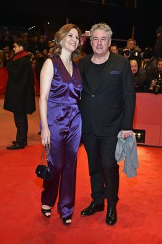 Martina Gedeck and her partner Markus Imboden attend the 'Django' premiere during the 67th Berlinale International Film Festival Berlin at Berlinale Palace on February 9, 2017 in Berlin, Germany.