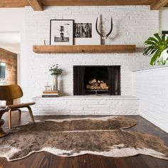 This (under $100!) faux cowhide rug adds chic (and animal-friendly) style to any space. Pair it with sleek, modern furniture for a textural contrast or add it to a rustic room for a ranch look.