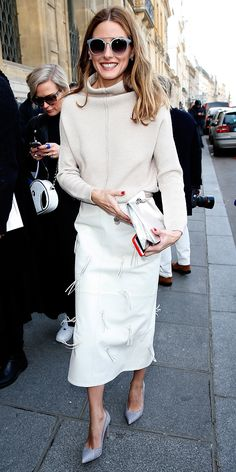 Olivia Palermo attend the Chalayan fall/winter 2015 show on March 5, 2015 #oliviapalermo #chalayan
