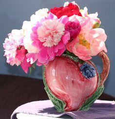 Italian Vase of Peonys by debgay.deviantart.com