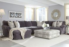 Groovy Smoke 3pc Sectional - Bailey's Furniture