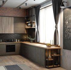 loft interior design kitchen дизайн кухни кухонный гарнитур лофт