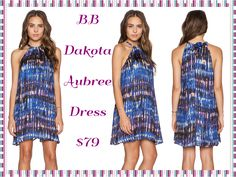 BB Dakota Aubree Dress: The colors in this fun dress are beautiful and the fit makes this dress perfect for any occasion!!  Poly blend Hand wash cold Unlined Back keyhole with tie closure Available size XS-L ‪#‎BBDakota‬ ‪#‎aubreedress‬