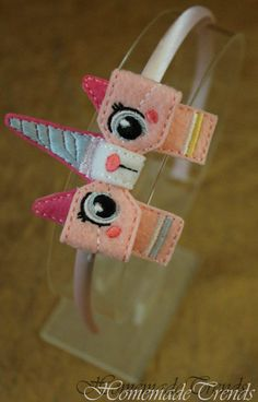 Unicorn Cat Inspired 3D Bow Headband by HomemadeTrends on Etsy, $7.50