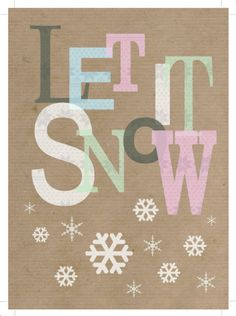 Jeannine Rundle - AD2791A LET IT SNOW PATTERNED WORDS
