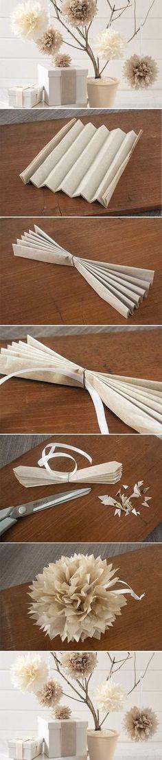DIY Paper Flower Ball