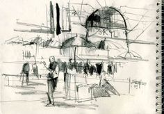 Urban Sketchers: Playing with Light and Shadow in Singapore