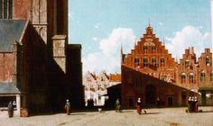 Johannes 'Jan' Weissenbruch (Den Haag 1822-1880) Gezicht op de Grote markt te Haarlem - Kunsthandel Simonis en Buunk, Ede (Nederland).