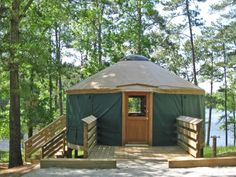 Go glamping! High Falls State Park in Jackson, #Georgia is offering 30% off yurts through Feb. 28th!