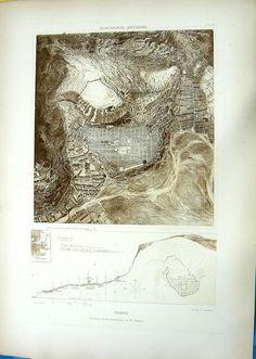22 ~ ANCIENT GREEK CITY PRIENE TURKEY ~ Antique D'ESPOUY Architecture Art Print