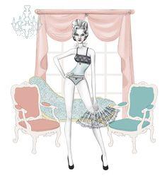 Nicole Jarecz Fashion Illustration: Les Jupons de Tess