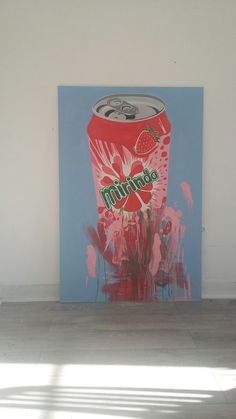 Action Mirinda. Acrylic on board.