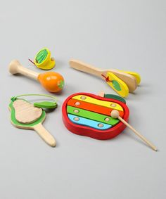Take a look at this Fruit Music Instrument Set by Discoveroo on #zulily today! $27 !!
