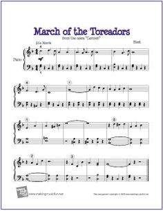 March of the Toreadors from Carmen (Bizet) | Free Sheet Music for Piano