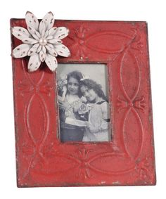 Take a look at this Red & Crème Picture Frame by Wilco on #zulily today!