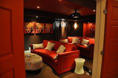 Margaret Lottery Home 2011 THEATRE Now that's a theater room! Just need a popcorn machine--marquee - - yup!Now that's a theater room! Just need a popcorn machine--marquee - - yup! Home Theater Decor, Home Theater Rooms, Home Theater Seating, Cinema Room, Home Theater Design, Home Decor, Small Room Design, Home Cinemas, Home Entertainment