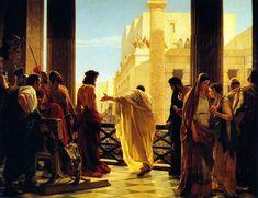 Muy de mañana, habiendo tenido consejo los principales sacerdotes con los ancianos, con los escribas y con todo el concilio, llevaron a Jesús atado, y le entregaron a Pilato.