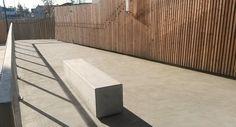 Lithos bench - Guyon outdoor and street furniture Beton Design, Banquette, Street Furniture, Outdoor Furniture, Outdoor Decor, Concrete, Architecture, Home Decor, Stylish