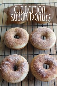 Cinnamon Sugar Baked Donuts Recipe. Easy, fast and oh so TASTY!