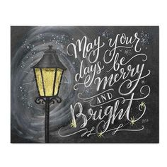 May Your Days Be Merry & Bright - Print #Christmas #Food #Gifts