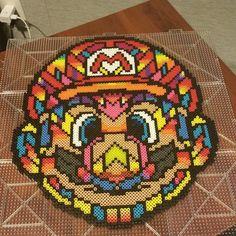 Super Mario perler bead art by gir_mania