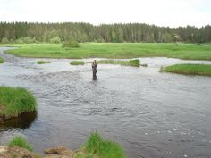 Fishing in the river Iijoki, area Jurmu 2, Taivalkoski, Lapland, Finland