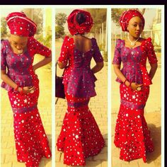 Lovely Ankara Aso Ebi Skirt and Blouse Style - DeZango Fashion Zone