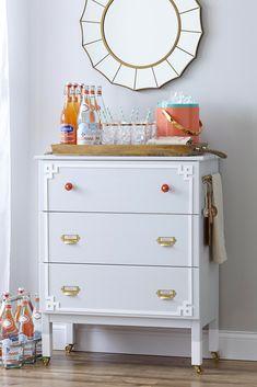 Bookcase Dresser...IKEA HACK turned beverage bar!
